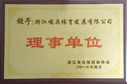 台球运动协会理事单位-峻奥